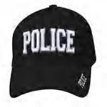 Black 3-D Embroidered POLICE Baseball Cap
