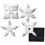 Extreme Silver Ninja 4 PC Throwing Star