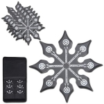 6 PC Black 8 Point Throwing Star Set