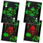 Black 4 PC Zombie Slayer Throwing Cards