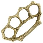 Brass BONES 3 Belt Buckle Paperweight