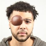 Pirates Brown Leather Eye Patch
