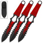 Flame Thrower Pin Point Throwing Knives