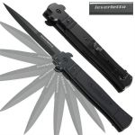 Black Leverletto Spring Assisted Knife