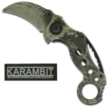 Mossy Armored Karambit Assisted Knife