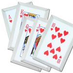 5 PC Royal Flush Hearts Throwing Card Set