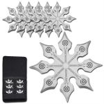 6 PC Stainless 8 Point Throwing Star Set