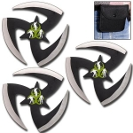 Walking Dead 3PC Throwing Star Set