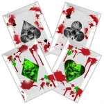 White 4 PC Zombie Slayer Throwing Cards
