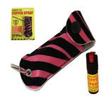 Cheetah Pepper Spray 1/2 oz. Leatherette Keyring