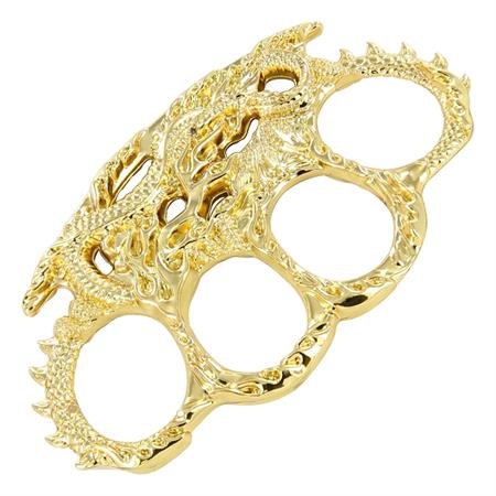 Gold Dragon Flame Belt Buckle Paperweight